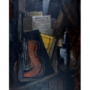 Alicja HALICKA (1889-1974), Martwa natura kubistyczna z wiolonczelą, 1916