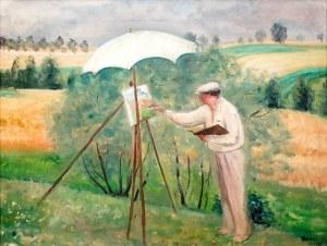 ANERI Irena Weissowa (1888-1981), Pejzażysta – Wojciech Weiss malujący, 1935 r.
