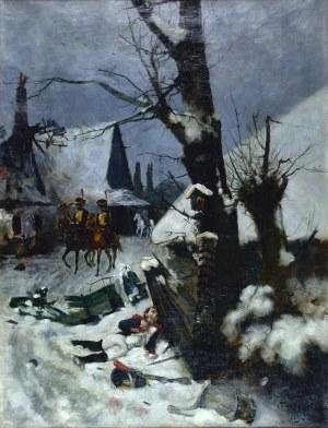 Stanisław FABIJAŃSKI (1865-1947), Patrol napoleoński, 1891