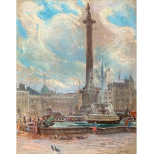 Władysław SERAFIN (1905-1988), Kolumna Nelsona przy Trafalgar Square w Londynie, ok. 1965