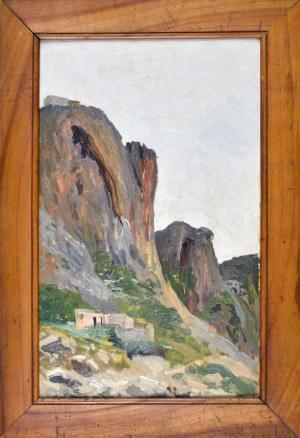 Michał GORSTKIN WYWIÓRSKI (1861 – 1926), Skalisty wąwóz w Hiszpanii, ok. 1905