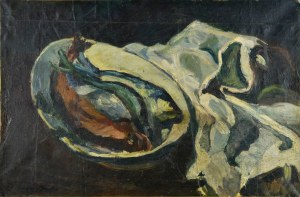 Jacques CHAPIRO (1887-1962), Martwa natura z rybami
