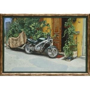 Andrzej Sadowski, Kreta - Chania - Uliczka z dwoma motocyklami, 2003/2004