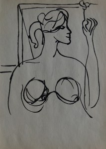 Roman Opałka, Portret kobiety, 1956