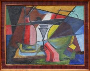 Antoni Grabarz, Martwa natura z paletą, 1958