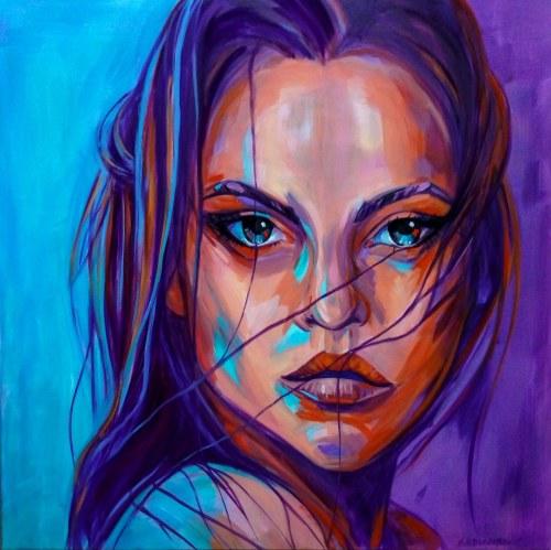Marzena Hettich-Uryszek, Girle in Purple rain, 2021