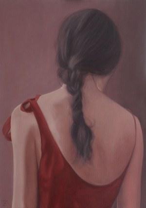 Maria Lorek, Ragazza in un vestito rosso (Dziewczyna w czerwonej sukience)