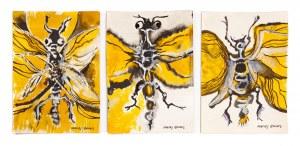 Maciej ŻWINIS (1926-2010), Kompozycja z owadem - tryptyk