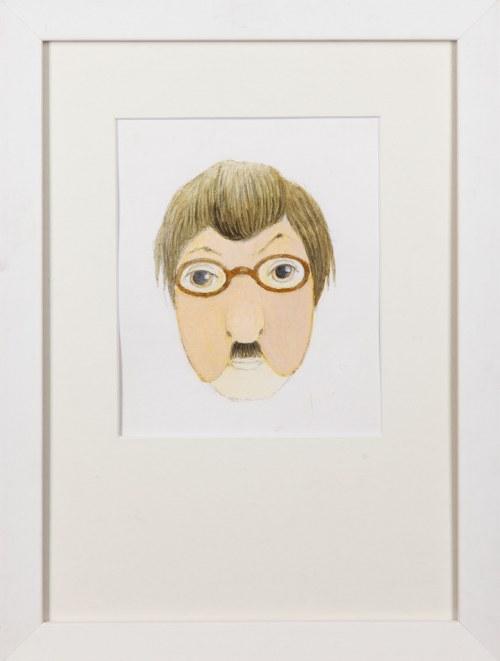 Kazimierz MIKULSKI (1918-1998), Projekt maski męskiej w okularach