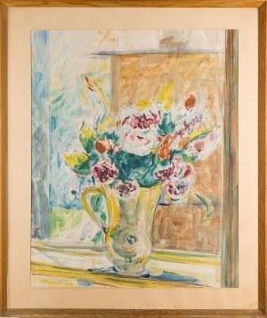 Autor nieokreślony, XX w., Kwiaty w dzbanie