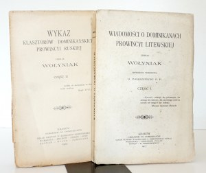 1917 - Giżycki, WIADOMOŚCI O DOMINIKANACH prowincyi LITEWSKIEJ