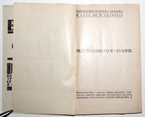 1929 - PRZEWODNIK PO WYSTAWIE. Wystawa Krajowa w roku 1929 w Poznaniu, Poznań, ładny egz.