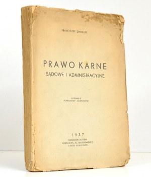 1937 - Daniluk, PRAWO KARNE SĄDOWE i administracyjne