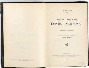 1905 - Bogdanov, KRÓTKI WYKŁAD EKONOMII politycznej