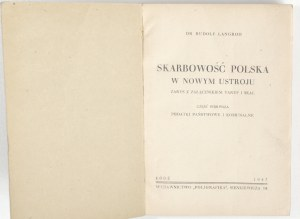 1947 - Langrod, SKARBOWOŚĆ POLSKA w nowym ustroju