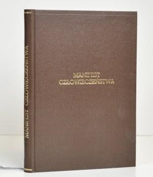 1912 - Wróblewski, MANIFEST CZŁOWIECZEŃSTWA
