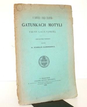 1899 - [MOTYLE] Klemensiewicz, O nowych i mało znanych GATUNKACH MOTYLI fauny galicyjskiej