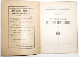 1936 - Olszański, JAK KUPOWAĆ ZWIERZĘTA GOSPODARSKIE