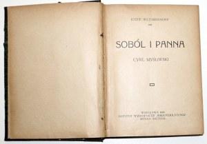 1921 - Weyssenhoff, SOBÓL I PANNA, CYKL MYŚLIWSKI
