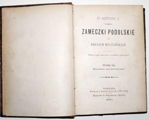 1880 - Rolle, ZAMECZKI PODOLSKIE na Kresach Multańskich