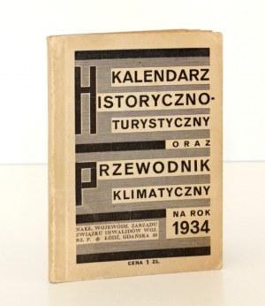 1934 - [miasta polskie; zdrojowiska], KALENDARZ HISTORYCZNO-TURYSTYCZNY oraz Przewodnik Klimatyczny na Rok 1934