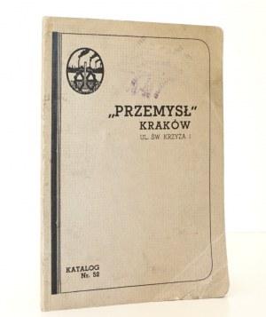 """1937 - [katalog """"Przemysł"""" Kraków], """"PRZEMYSŁ"""" Kraków, Katalog nr 52"""