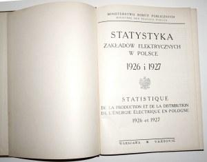 1927 - [Zakłady Elektryczne w Polsce], Statysyka ZAKŁADÓW ELEKTRYCZNYCH w Polsce 1925