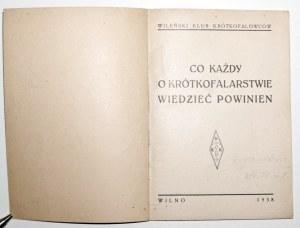 1938 - WILEŃSKI KLUB KRÓTKOFALOWCÓW