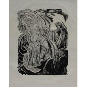 """Stefan Mrożewski, (1894-1975) Ilustracja do """"Boskiej komedii"""" Dantego. Czyściec, Pieśń XIX"""