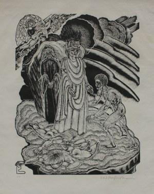 """Stefan Mrożewski, (1894-1975) Ilustracja do """"Boskiej komedii"""" Dantego. Czyściec, Pieśń XXI"""