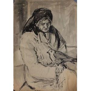 Władysław Popielarczyk, (1925-1987) Kobieta z gołębiem