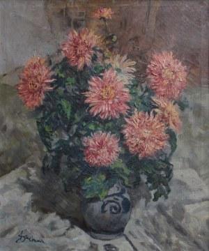 Antoni Suchanek, (1901-1982) Dalie w wazonie