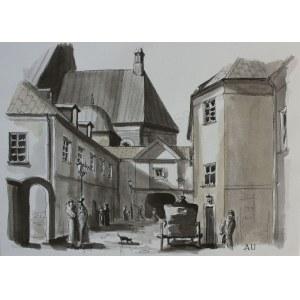 Antoni Uniechowski, (1903-1976) Zaułek na Starym Mieście