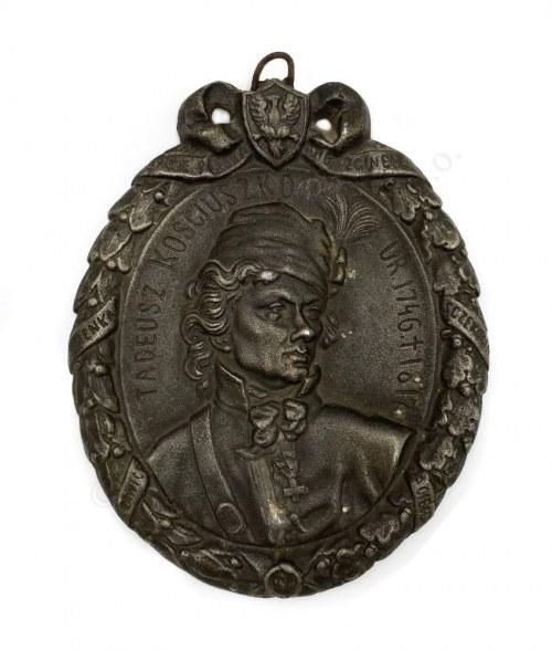 Medalion z wizerunkiem Tadeusza Kościuszki,
