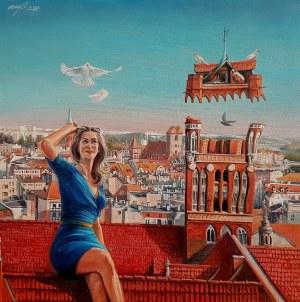 Maja Wolf, Ulotność historii II (niebieska sukienka) S
