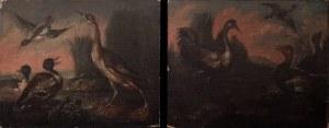 Malarz nieokreślony, pocz. XIX w., Ptactwo para obrazów