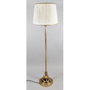 Lampa podłogowa kolumnowa wsparta na lwich łapach