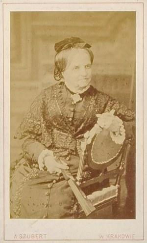 Avit  SZUBERT (1837-1919), Zofia Wodzicka z Rzyszczewskich (1816-1890) - carte de visite, lata 80. XIX w.