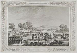 Edme BOVINET (1767-1832) wg Bernard Edouard SWEBACH (1800-1870), Napoleon wizytujący wojska pod Tylżą w 1807; poł. XIX w.
