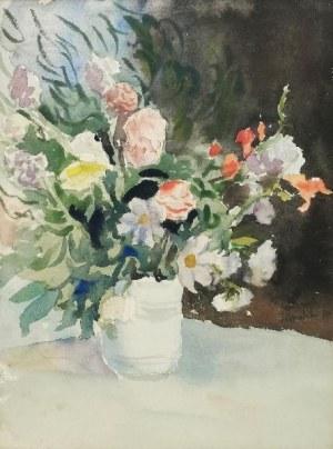 Malarz nieokreślony, Kwiaty w wazonie