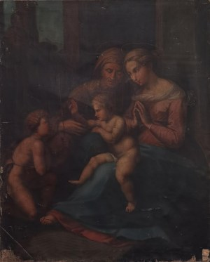 Malarz nieokreślony, XIX w., Święta Anna Samotrzeć