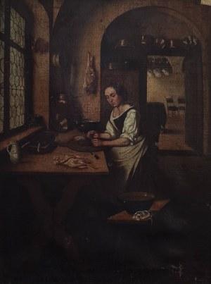 Malarz nieokreślony, XX w., Scena w kuchni