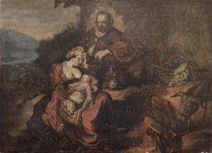 Malarz nieokreślony, XlX w., Odpoczynek Świętej Rodziny podczas ucieczki z Egiptu
