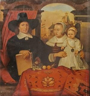 Malarz nieokreślony, Portret rodziny Willema van der Helm, architekta miasta Leida, XX w.