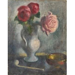 Malarz polski, ok. 1925, Kwiaty w wazonie
