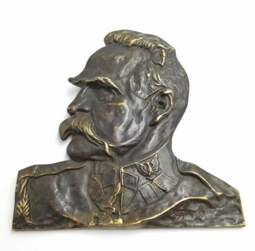 Feliks (Robak) ROBAKOWSKI (1896-1980) - według, Popiersie Józefa Piłsudskiego, lata 30. XX w.