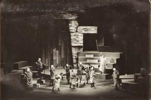 """Franciszek MYSZKOWSKI (1913 - 1971), """"Taniec obrzędowy"""" (finał 1. aktu),  Król Edyp  Sofoklesa, Teatr Dramatyczny m. st. Warszawy, 1961"""