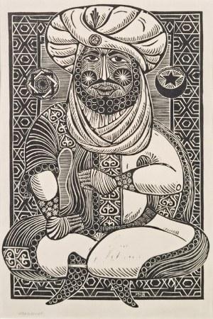 Janusz BENEDYKTOWICZ (1918-2001) - przypisywany, Mahomet - ilustracja do bajki