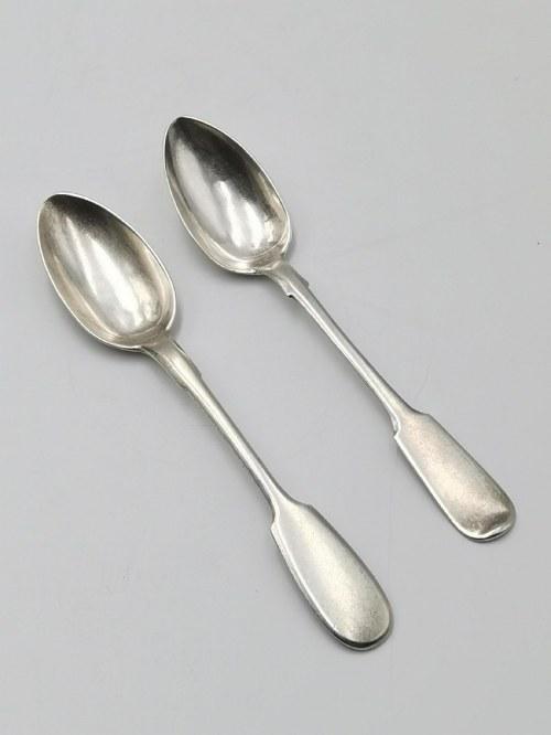 Złotnik K. R. (cyrylicą), Dwie srebrne łyżeczki do herbaty