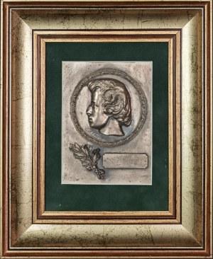 Plakieta z płaskorzeźbą - głowa Fryderyka Chopina